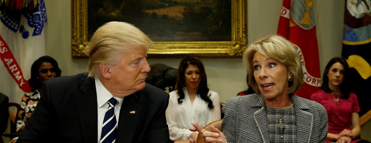 Donald Trump, Betsy DeVos, US, Education Secretary