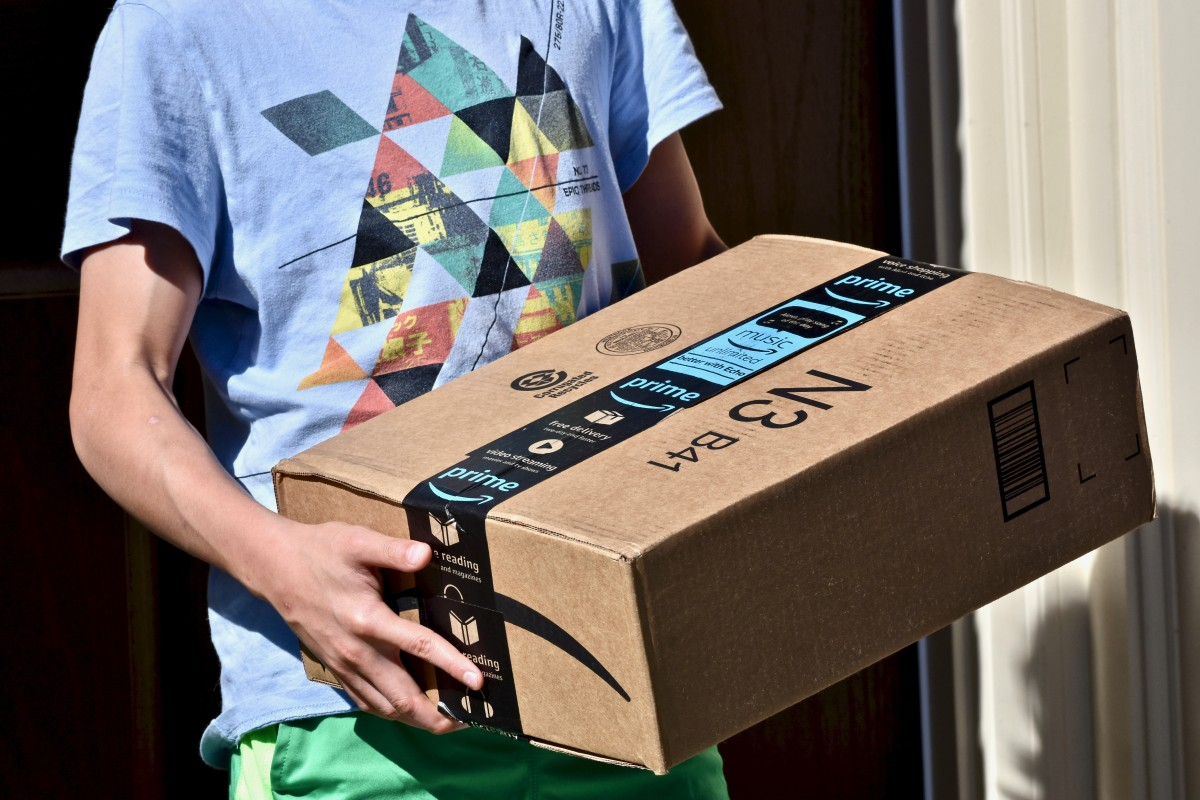 Amazon delivery. Source: Jeramey Lende/Shutterstock.