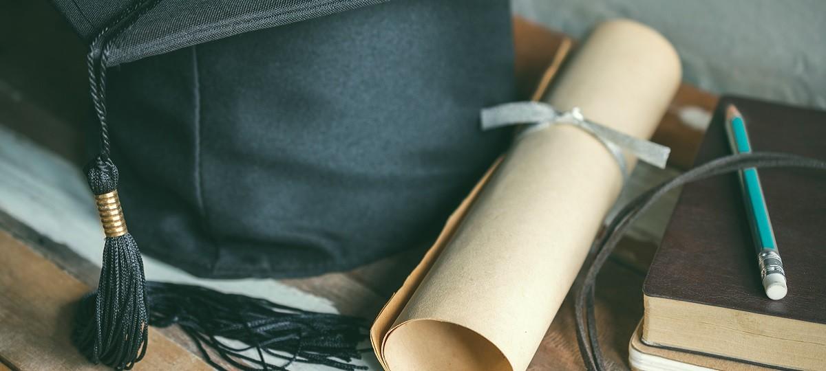 degree, diploma, scroll