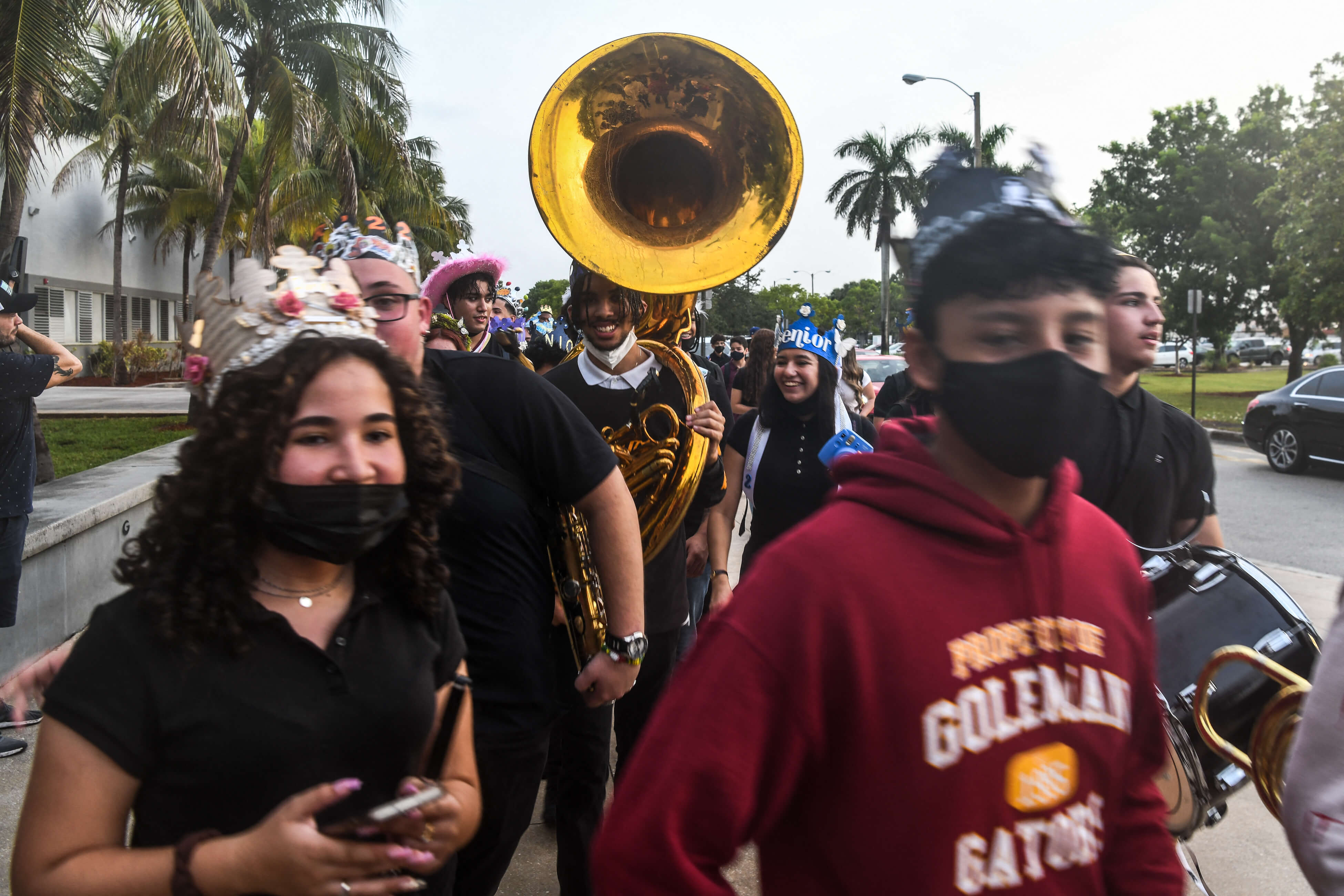 Nervous but happy, Miami students back at school amid COVID-19 surge